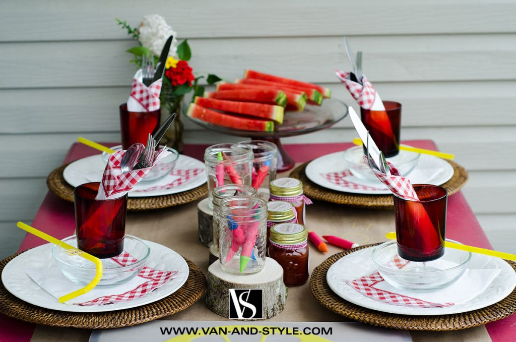 Barbecue Party - Une table pour les enfants | Kids Table for a barbecue party